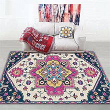 Carpet fireplace rug Red yellow purple European