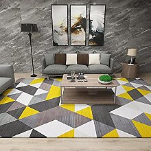 Carpet fireplace rug Yellow gray white modern