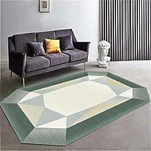 Carpet For Floor Green irregular geometric pattern