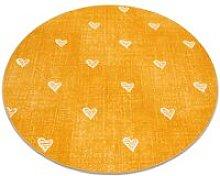 Carpet for kids HEARTS circle Jeans, vintage