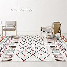 Carpet hall rugs Red blue modern doodle geometric