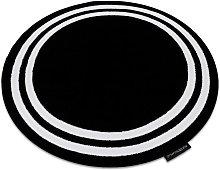 Carpet HAMPTON Frame circle black Black round 120