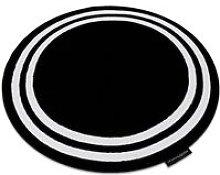 Carpet HAMPTON Frame circle black Black round 140