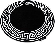 Carpet HAMPTON Grecos circle black Black round 140