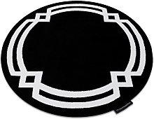 Carpet HAMPTON Lux circle black Black round 140 cm