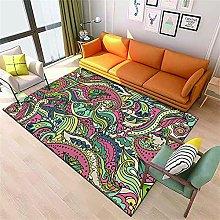 Carpet Living Room Room Decor Red yellow green