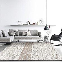 Carpet lounge rugs Khaki White Moroccan Geometric