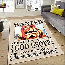 Carpet One Piece Anime Cartoon Usopp Rug