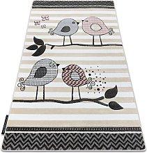 Carpet PETIT BIRDS cream Shades of beige 200x290 cm