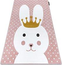 Carpet PETIT BUNNY rabbit pink Shades of pink