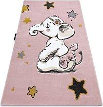 Carpet PETIT ELEPHANT STARS pink Shades of pink