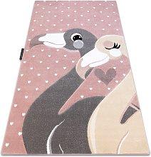 Carpet PETIT FLAMINGOS HEARTS pink Shades of pink