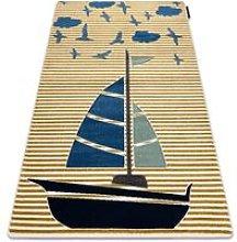 Carpet PETIT SAIL boat, sailboat gold Shades of