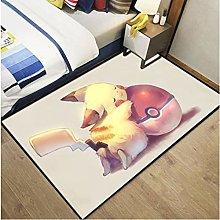 Carpet Pikachu Cartoon Home Anime Living Room