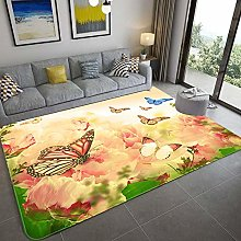 Carpet Rectangular Children'S Carpet Flower