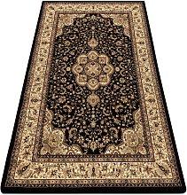 Carpet ROYAL AGY design 0521 black Black 150x300 cm