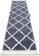 Carpet, Runner BERBER CROSS grey - for the
