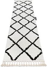 Carpet, Runner BERBER CROSS white - for the