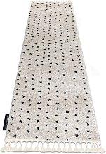Carpet, runner BERBER SYLA B752 dots cream - for