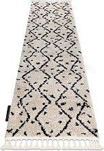 Carpet, Runner BERBER TETUAN B751 zigzag cream -