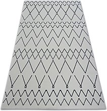 Carpet SENSE Micro 81249 ZIGZAG ETHNO white/navy White 200x290 cm