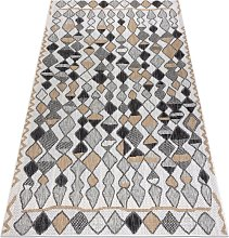 Carpet SISAL COOPER Diamonds, Zigzag 22217 ecru /