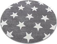 Carpet SKETCH circle - FA68 grey/white - Stars