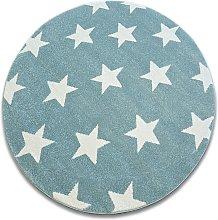 Carpet SKETCH circle - FA68 turquoise/cream -