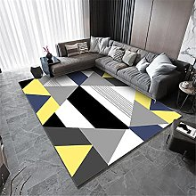Carpet sofa for bedroom rug Black gray yellow
