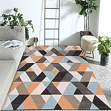 Carpet sofa for living room rug Yellow blue brown