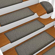 Carpet Stair Treads 15 pcs 65x25 cm Dark Grey