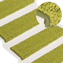 Carpet Stair Treads 15 pcs 65x25 cm Green
