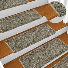 Carpet Stair Treads 15 pcs 65x25 cm Grey VD34796 -