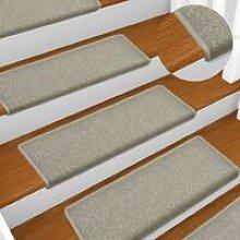 Carpet Stair Treads 15 pcs 65x25 cm Light Grey