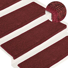 Carpet Stair Treads 15 pcs 65x25 cm Matte Red