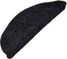 Carpet Stair Treads 15 pcs Black 65x25 cm - Black