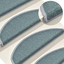 Carpet Stair Treads 15 pcs Blue 56x17x3 cm