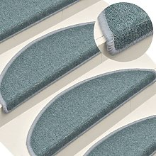 Carpet Stair Treads 15 pcs Blue 65x24x4 cm - Blue