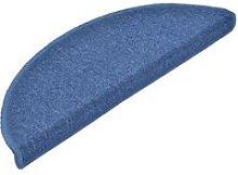 Carpet Stair Treads 15 pcs Blue 65x24x4 cm
