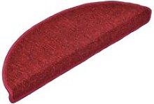 Carpet Stair Treads 15 pcs Bordeaux Red 65x24x4 cm