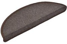 Carpet Stair Treads 15 pcs Coffee Brown 65x24x4 cm