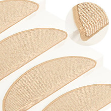 Carpet Stair Treads 15 pcs Cream 65x21x4 cm