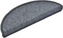 Carpet Stair Treads 15 pcs Dark Grey 65x24x4 cm