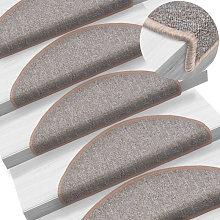 Carpet Stair Treads 15 pcs Light Brown 65x24x4 cm