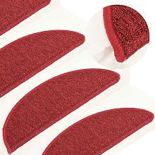 Carpet Stair Treads 15 pcs Red 56x17x3