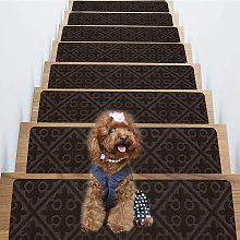 Carpet Stair Treads Set of 15 Non Skid and Slip