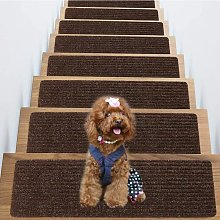 Carpet Stair Treads Set of 4 Non Skid and Slip