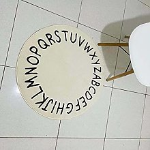 Carpet White Round Rug Thicken Plush Carpets