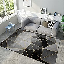 Carpets boys rug Black gray geometric pattern with
