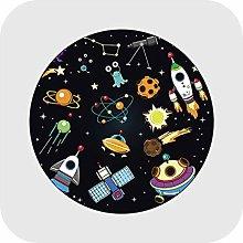 Carpets Cartoon Kids Round Carpet Space Planet